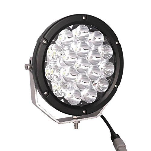 (Lightronic 7inch Led Driving Lights 90W 6000K 9000Lumens Round Spot Bumper Driving Lamp for Atv Utv Jeep 4x4 BOAT)
