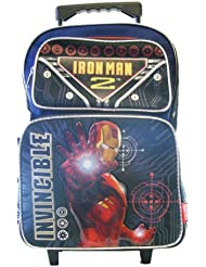 Iron Man 2 War Invincible Large Rolling Backpack - Iron Man Wheeld Backpack