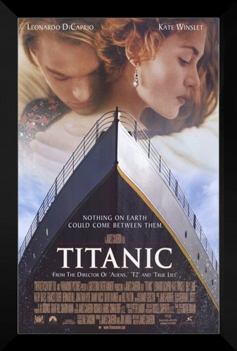 Titanic FRAMED 27x40 Movie Poster: Leonardo DiCaprio