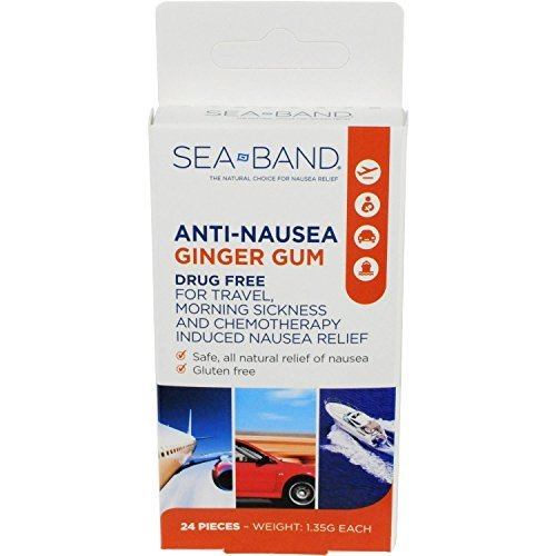 Anti-Nausea Ginger Gum 24 Count (Pack of 4)