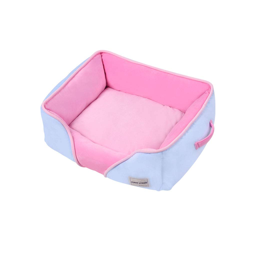 bluee Square 55x48x17cm bluee Square 55x48x17cm PLDDY Dog Nest, Pet Bed,removable Washable, All Seasons Usable, Comfortable Warmer Crystal Velvet, Small MediumTeddy Pet Sofa, Schnauzer Keke Pet Nest, Cat Nest