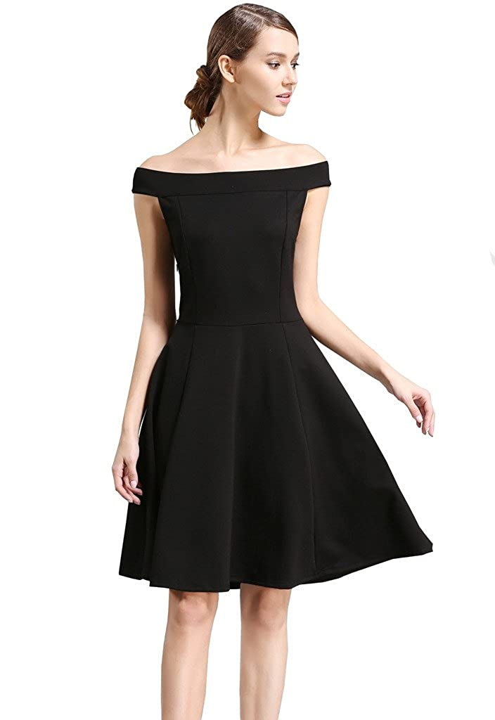 84644c1323 buenos ninos Women s Off Shoulder Cocktail Evening Party Dress   Amazon.co.uk  Clothing