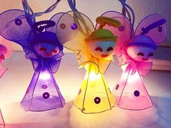 220v Euro enchufe CE cadena de luces de hadas - Mini ángeles colores mezclados