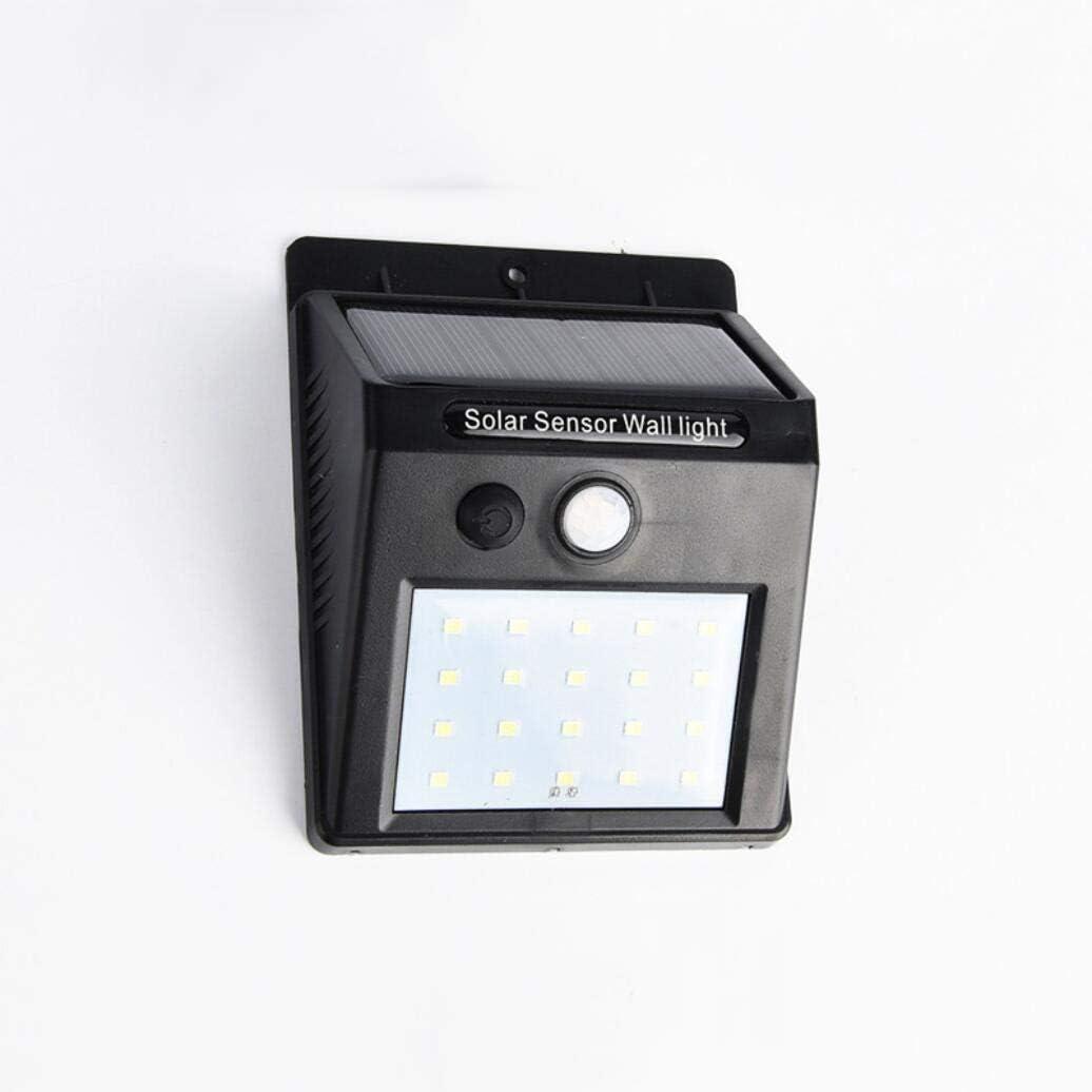 SIMGULAM Luz Solar de Pared LED, 20pcs LED Sensor de Movimiento Exterior Home Depot Luz Solar de Pared Al Aire Libre Impermeable Anochecer al Amanecer para jardín Camino Patio, Negro