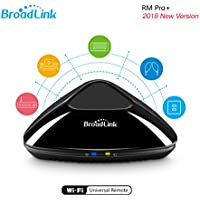 Broadlink RM pro+ WiFi Smart Home IR RF All in One Automation Learning Universal Remote Control Compatible for IOS/Android Smartphones(Black)