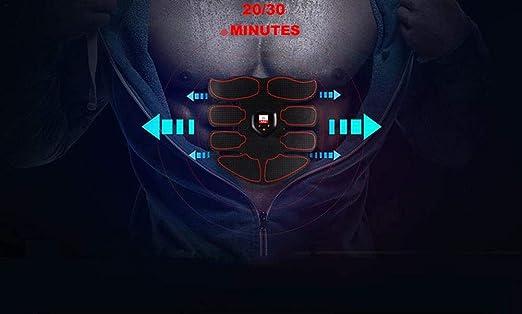 ESTIMULADOR ELÉCTRICO Muscular Ultima VERSIÓN; Unisex; a Pilas y sin Hilos ABS estimulador eléctrico Profesional para el Refuerzo Muscular, TONIFICAR, ...