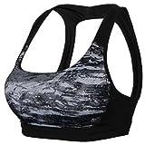 Women Summer Sport Tank Tops Breathable Running Fitness Bra Yoga Bustiers by MarbellStore (grey, L)