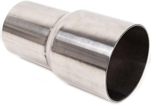 Escape adaptador reductor Grupo A 63,3/mm a 53/mm interior exterior de acero inoxidable