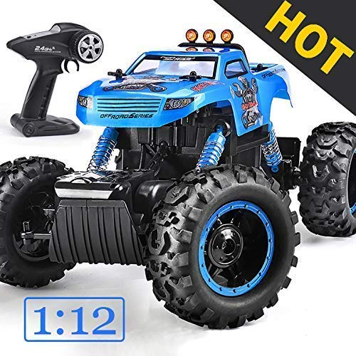 NQD Remote Control Trucks Monster RC Car 1: 12 Scale Off Road Vehicle 2.4Ghz Radio Remote Control Car 4WD High Speed Racing All Terrain Climbing Car Gift for Boys (Best Rc Monster Truck For Kids)