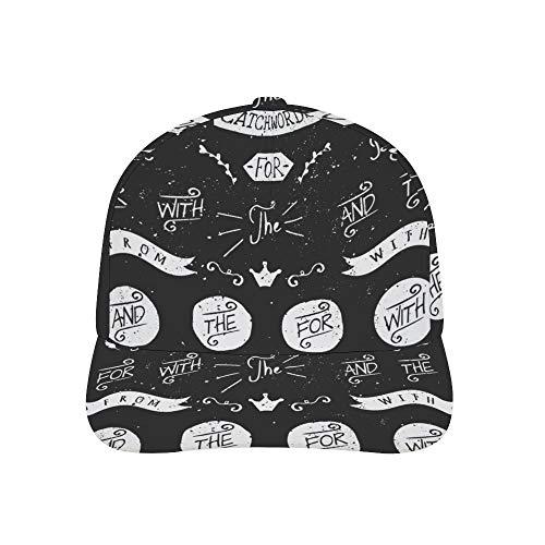 Osvbs Adult Printing Bended Rubber Baseball Cap Hand-Painted Blackboard catchphrases Custom Hip Hop Hat Trucker Hats Adjustable for Unisex