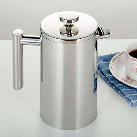Double Wall Stainless Steel French Coffee Press Tea Maker Coffee Plunger Tesca