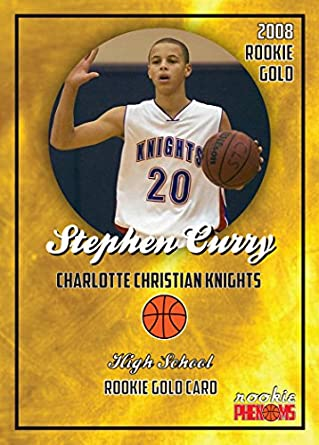 Stephen Curry 2008 Charlotte Christian Knights High School Gold