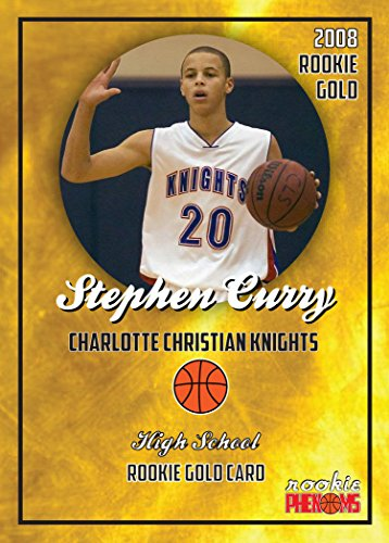STEPHEN CURRY 2008 CHARLOTTE CHRISTIAN KNIGHTS HIGH SCHOOL GOLD ROOKIE CARD IN A ONE TOUCH MAGNETIC CASE. ()