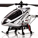 YXWJ Length 43cm Alloy Resistant Remote Control Aircraft Oversized Children Adult Charging Toy Helicopter Remote To Falling Drone Birthday Present Kids Age 6+ (Color : Silver, Size : Battery*1)