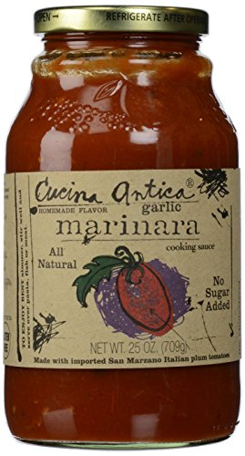 (Cucina Antica Garlic Marinara Sauce, 25 oz)