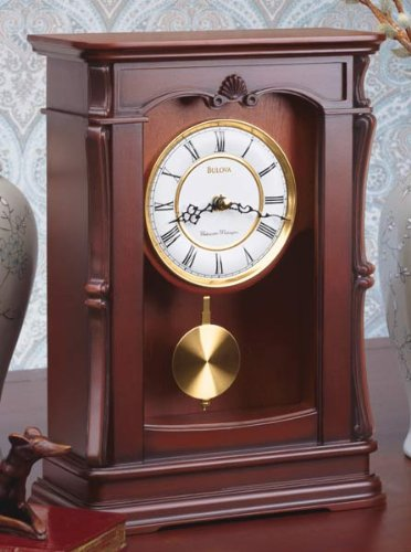 Abbeville Clock, Walnut Finish - Bulova B1909