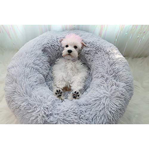 hjxvcsdh Katzenbett,Warn Plüsch Weich Runden Katze Schlafen Bett Klein Hund Bett Haustierbett katzenkorb Betten für…