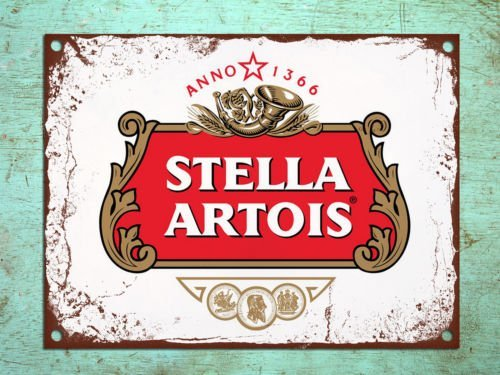 Metal Signs Retro Style Stella Artois Beer Bar Den Tin Wall Plaques ()