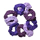 Best Shades Of Purples - Set of 9 Solid Scrunchies - Shades of Review