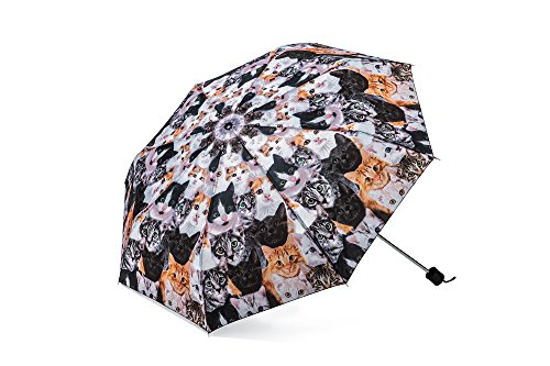 The Paragon Cat Umbrella - Compact & Portable Accessory with Photo-Realistic Kitty Images]()