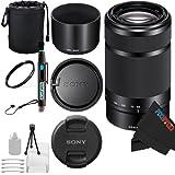 Sony E 55-210mm F4.5-6.3 Lens for Sony E-Mount Cameras (Black) + Pixi-Basic Accessory Bundle