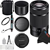 Sony E 55-210mm F4.5-6.3 Lens for Sony E-Mount Cameras (Black) + Pixi-Basic Accessory Bundle