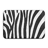zebra snow brush - Yangaaaa Zebra Stripes Design Outdoor Rubber Mat Front Door Mats Porch Garage Large Flow Slip Entry Carpet Standard Rug Home 23.62