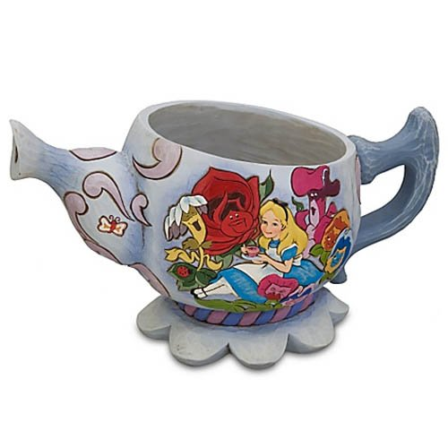 Enesco Jim Shore Disney TraditionsAlice in Wonderland Teapot Planter (Disney Planter)