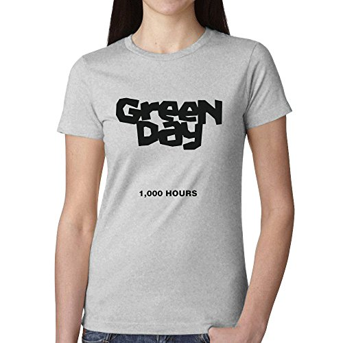 Green Day 1000 Hours T Shirts For Women Grey