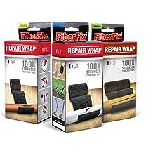 "FIBER FIX - Super Adhesive Tape - 3 Rolls: 1"", 2"" & 4"" - 100x Strength of Duct Tape: Fix & Repair: Automotive, Plumbing, Pipe & Hose, Emergency, DIY"