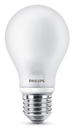 Philips Bombilla LED Estándar E27, 8.5 W, luz blanca cálida
