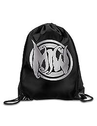 Motionless In White Band Platinum Logo GYM Drawstring Backpack Bag
