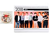 BTS Bangtan Boys 2018-2019 Photo Desk Calendar with BTS Handheld Mirror (Group)