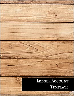 Ledger Account Template: Two Columnar Format