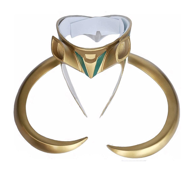 Jacos Loki Helmet Cosplay Loki Mask Costume with Golden Horns