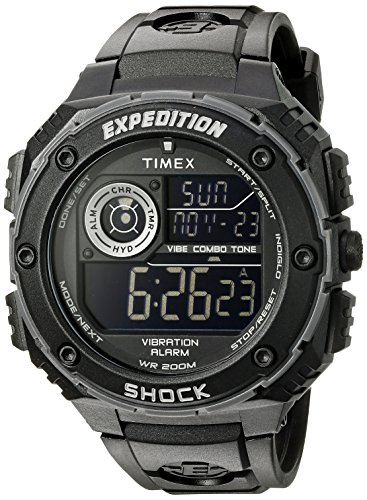Timex Men's T499839J Expedition Vibe Shock Watch with Black Band ()