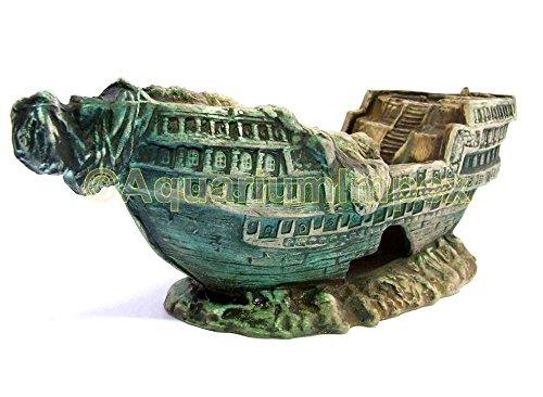 Aquarium Deko versunkenes Schiffswrack XL Schiff Segel Boot Wrack
