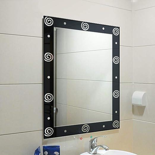 Grosser Badezimmerspiegel.Bathroom Mirror Badezimmerspiegel Grosser Einfacher 3d Muster Schwarzer Wandspiegel Mit 5 Mm Starker Silberruckseite Kosmetikspiegel Rasierspiegel Vergrosserungsspiegel Schminkspiegel 55 75 Cm Amazon De Kuche Haushalt