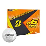 Bridgestone e6 Soft Personalized Golf Balls - Add Your Own Text (12 Dozen) - Yellow