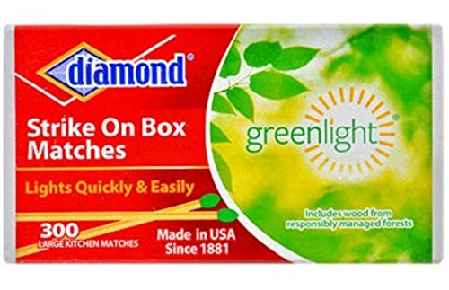 Diamond Strike On Box Greenlight Matches  300 Count