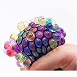 Creative Mesh Squishy Ball Grape Stress Balls Toy for Kids and Adults,Squeezing Ball Hand Wrist Ball Toy Stress Austism Mood Relief for Boys and Girls Party Favor Gift