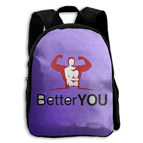 Kids School Bag Double Shoulder Print Backpacks Fitness Better You Travel Gear Daypack Gift (Tart Satchel)