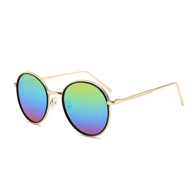 Limotai Gafas de sol Gafas Redondas Y Pequeñas De Metal Del ...