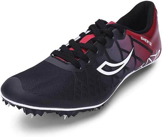 ZLYZS Pistas de Atletismo, 8 Picos Unisex Zapatillas de Atletismo ...