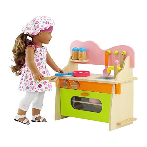 18 inch doll furniture kitchen set with baking oven stove sink and cookware accessories. Black Bedroom Furniture Sets. Home Design Ideas