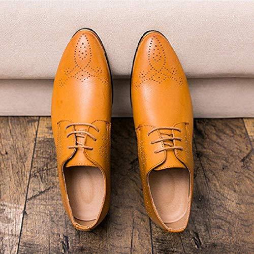 Color Zapatos Niumt Hombre Amarillo Para De Cuero 39 Eu 5 Talla Cordones xwY7ndfYq
