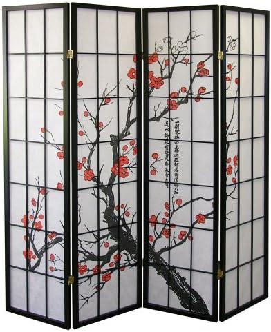 kieragrace Bota Triple-Panel Floor Screen – 47 x 71 , Chrysanthemum Design