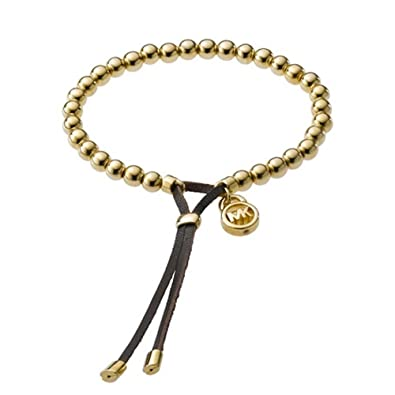 2506bdc13eac Amazon.com  Michael Kors MKJ1143 Women s Gold Tone Beads Stretch Bracelet  Jewelry  Jewelry