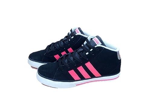 adidas - Zapatillas de Otra Piel para niña Negro Negro 49 1/3 EU: Amazon.es: Zapatos y complementos