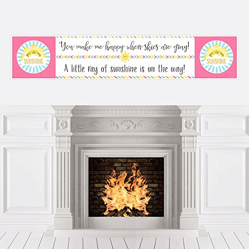 Big Dot of Happiness You are My Sunshine - Baby Shower Decorations Party Banner